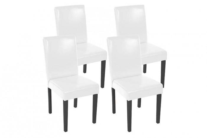 Pros y contras de las sillas de comedor blancas for Sillas polipiel blancas