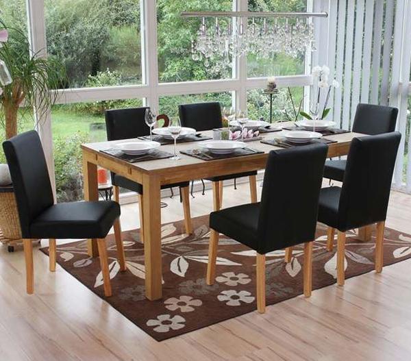 Cu les son las medidas de silla de comedor adecuadas for Sillas de comedor de cuero