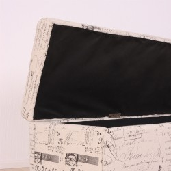 baúl decoración tapizado en tela