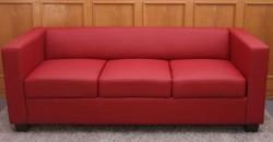sofá barato tapizado en polipiel roja