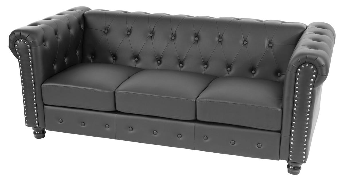 Sofas de piel baratos beautiful sof rolin con brazo for Sofas chesterfield baratos