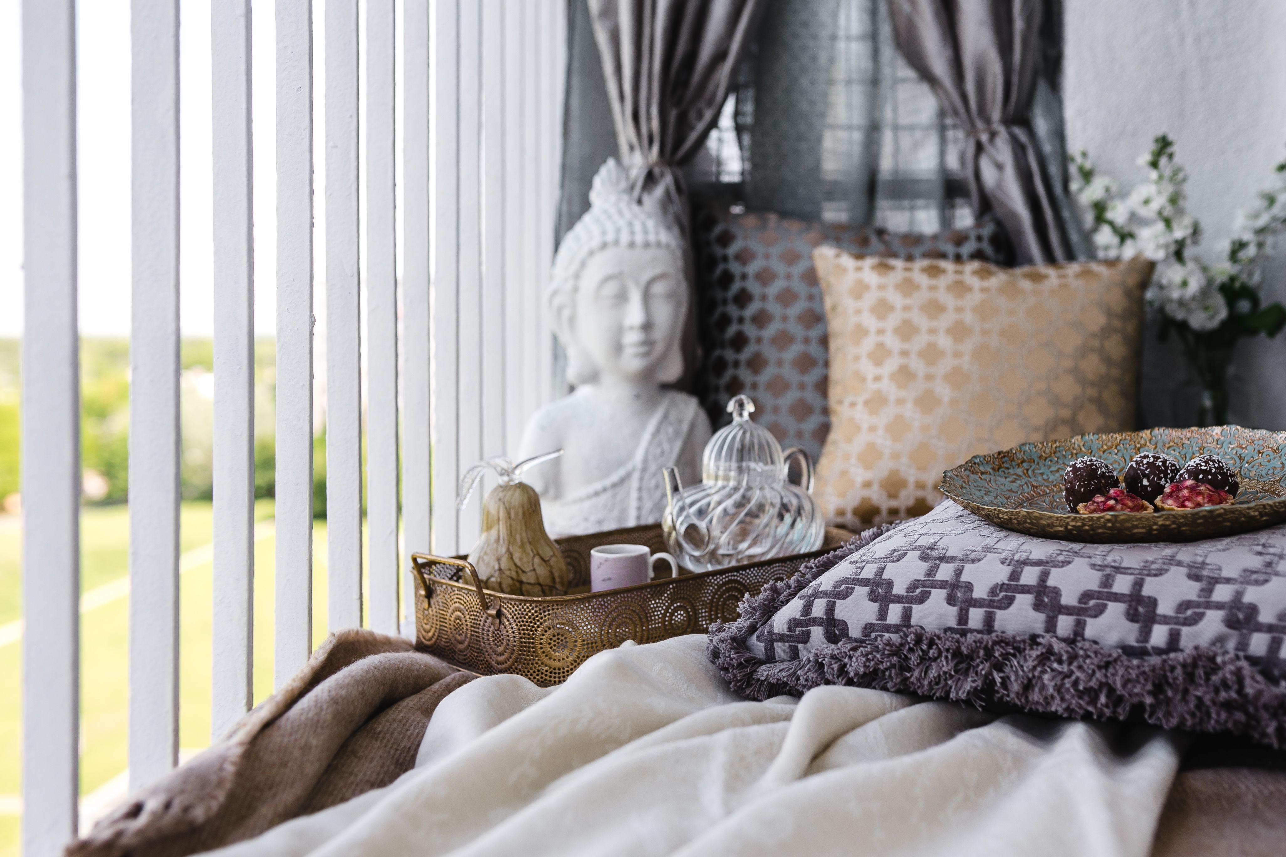 cómo decorar un balcón pequeño y relajado