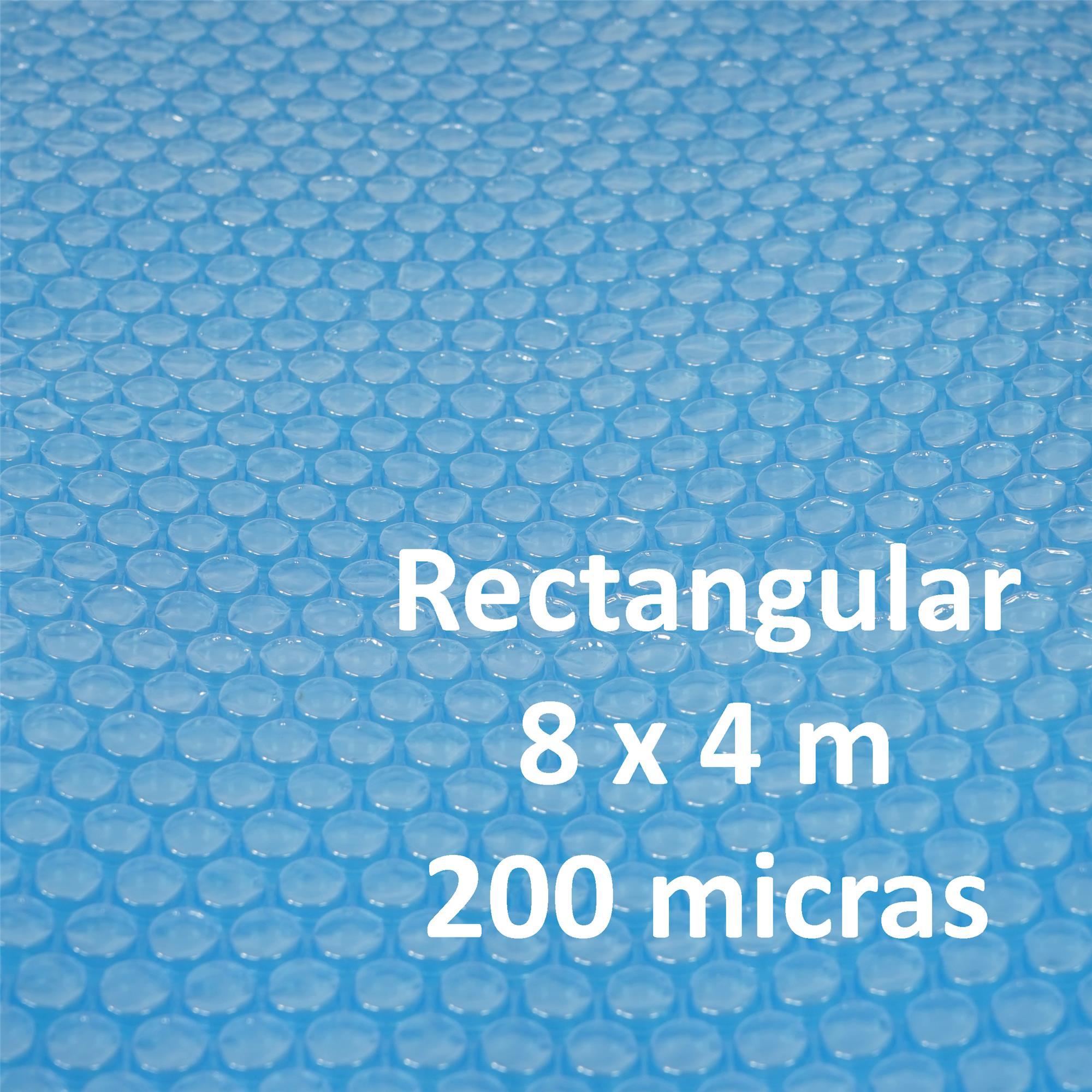 Cubierta lona t rmica piscina dimensiones 8x4 metros for Precio piscina gunitada 8x4