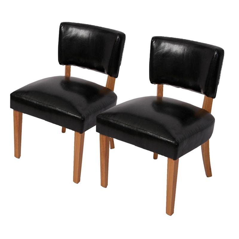 Lote 2 sillas de comedor n33 gran acolchado en polipiel for Sillas comedor polipiel