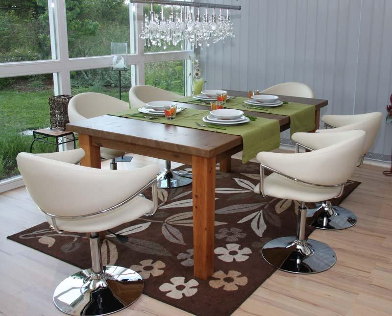 Lote 6 sillas de comedor como estructura met lica polipiel color crema - Sillas comedor polipiel ...