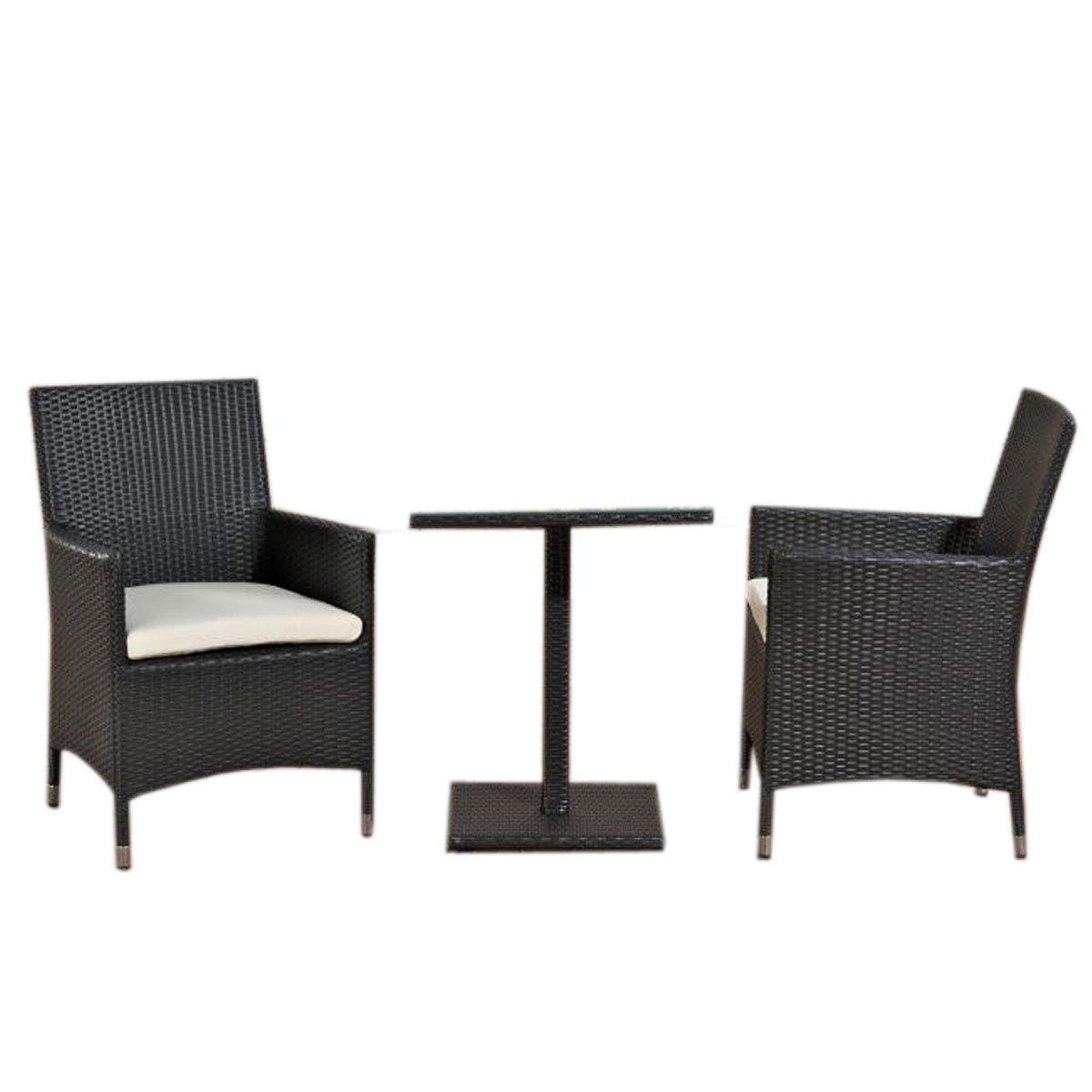 Conjunto de jard n palermo mesa 2 sillas poly rat n for Conjunto terraza jardin