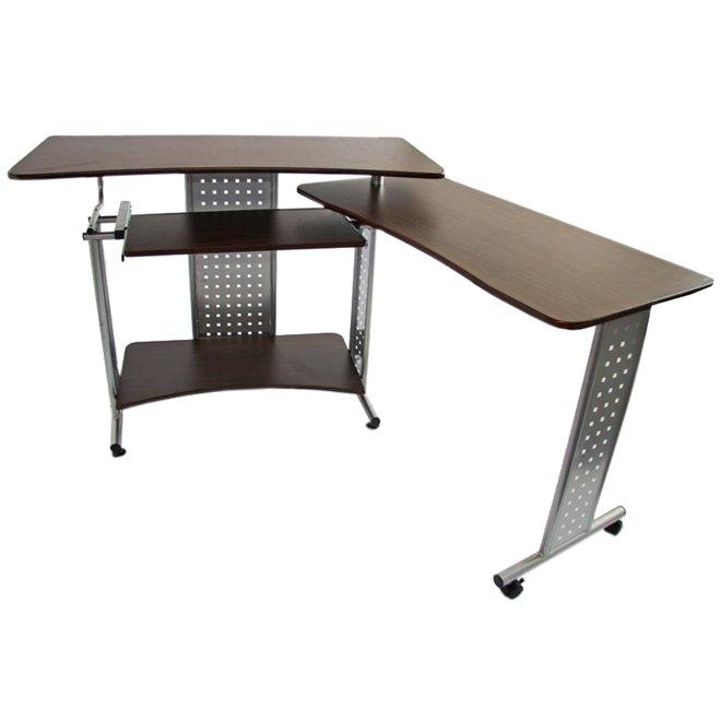Mesa de ordenador m9269 marr n oscuro 85x190x50 cm for Dimensiones mesa escritorio
