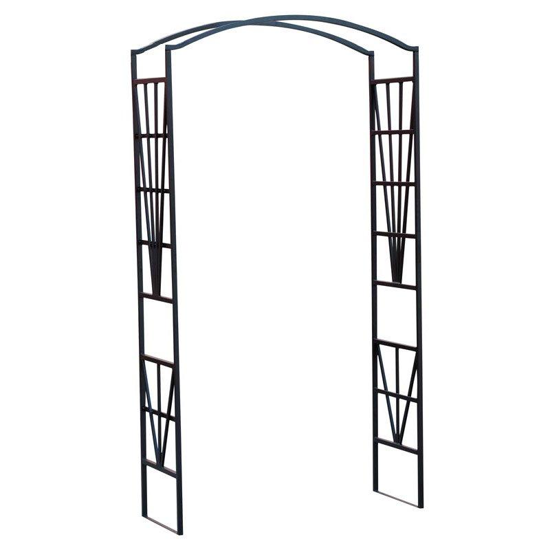 Arco de jard n rose morelia sin asiento 208x114x45 cm for Arco decorativo jardin