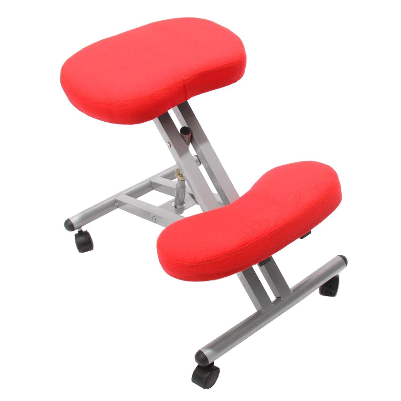 silla ergon mica presidente en tejido color rojo silla