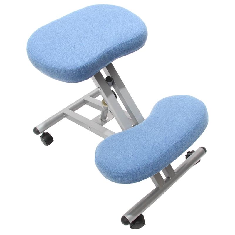 Silla ergon mica presidente en tejido color azul silla for Silla ergonomica rodillas