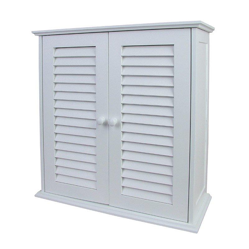 Armarios De Baño Blancos:Armario de pared para Baño, dimensiones 55x52x22cm, color blanco -