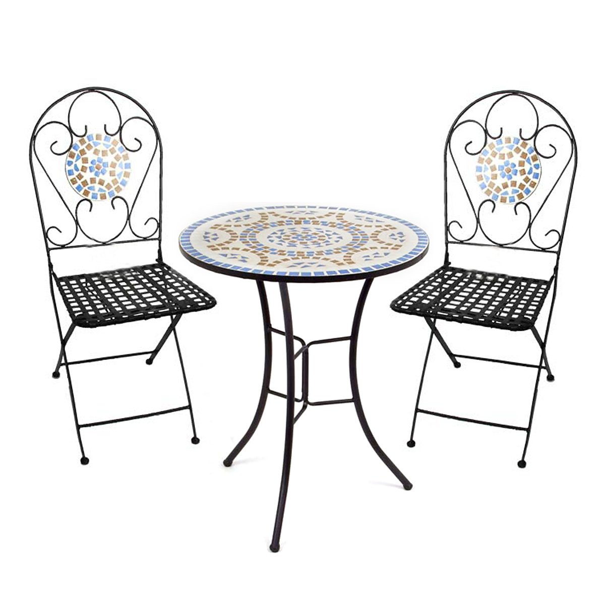 Conjuto para jard n con 1 mesa 2 sillas en mosaico for Mesa mosaico jardin