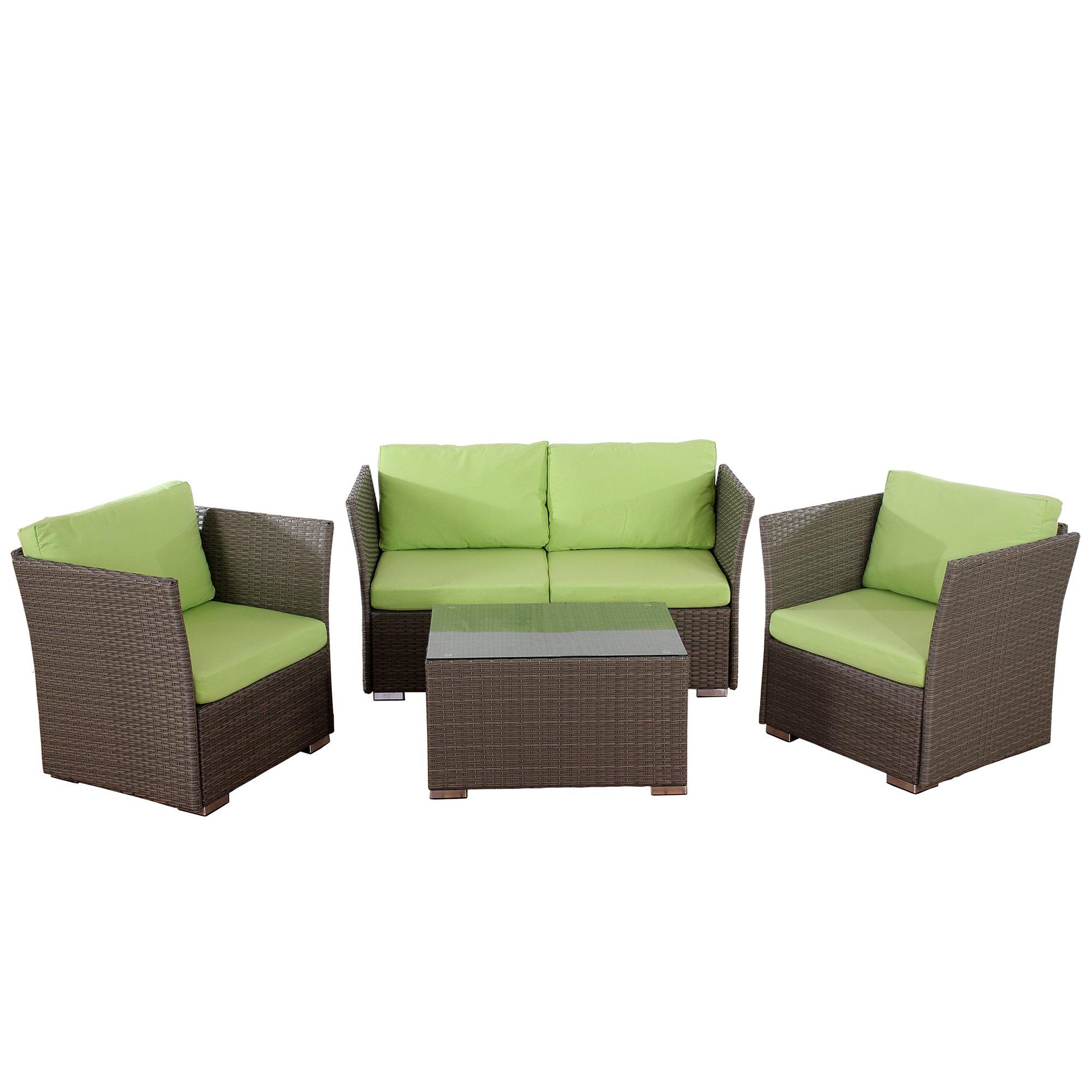Conjunto de jardin siena sofa 2 sillones mesa for Cojines jardin