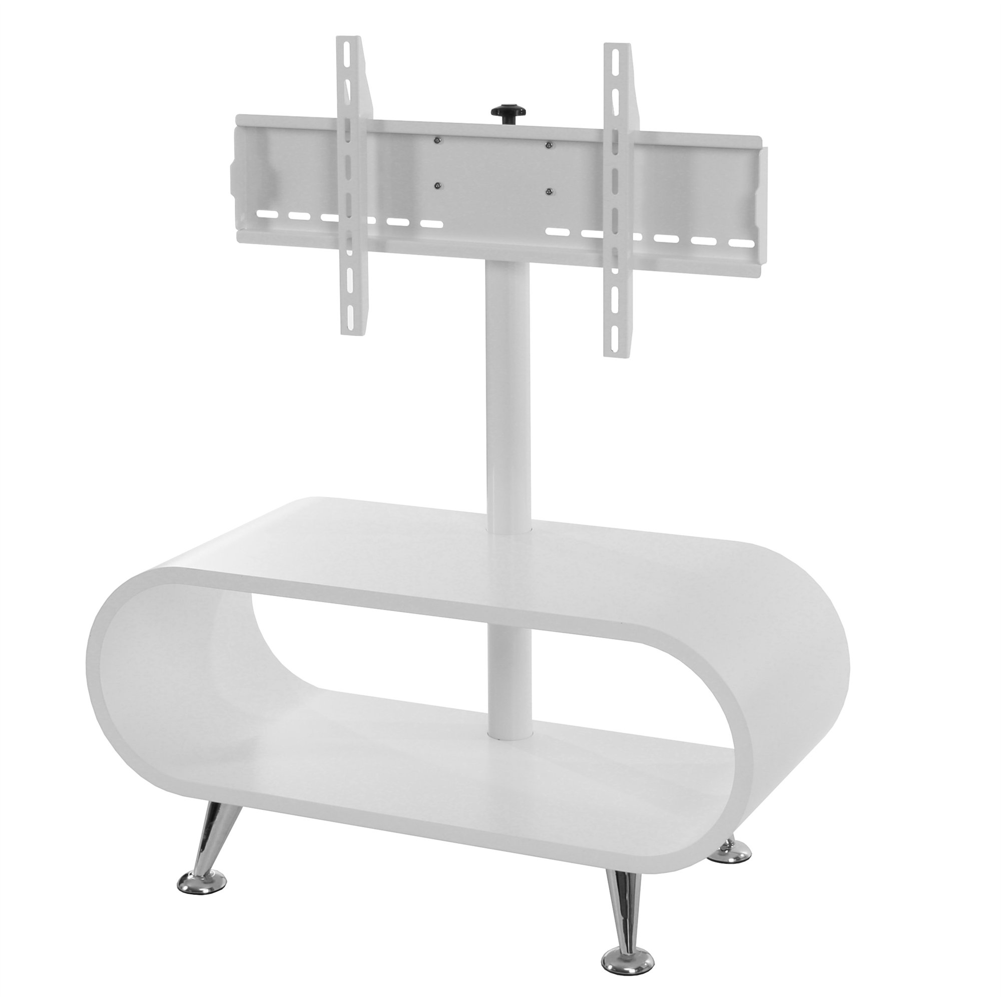 Mesa para tv de plasma prato sistema de ajuste tv color blanco for Mesas televisor plasma
