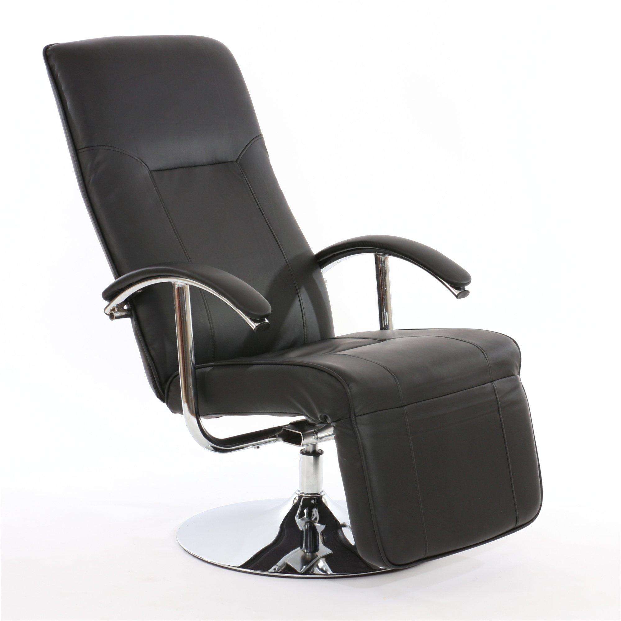 Sill n relax reclinable modelo apia ii en piel color negro for Sillon relax ikea piel