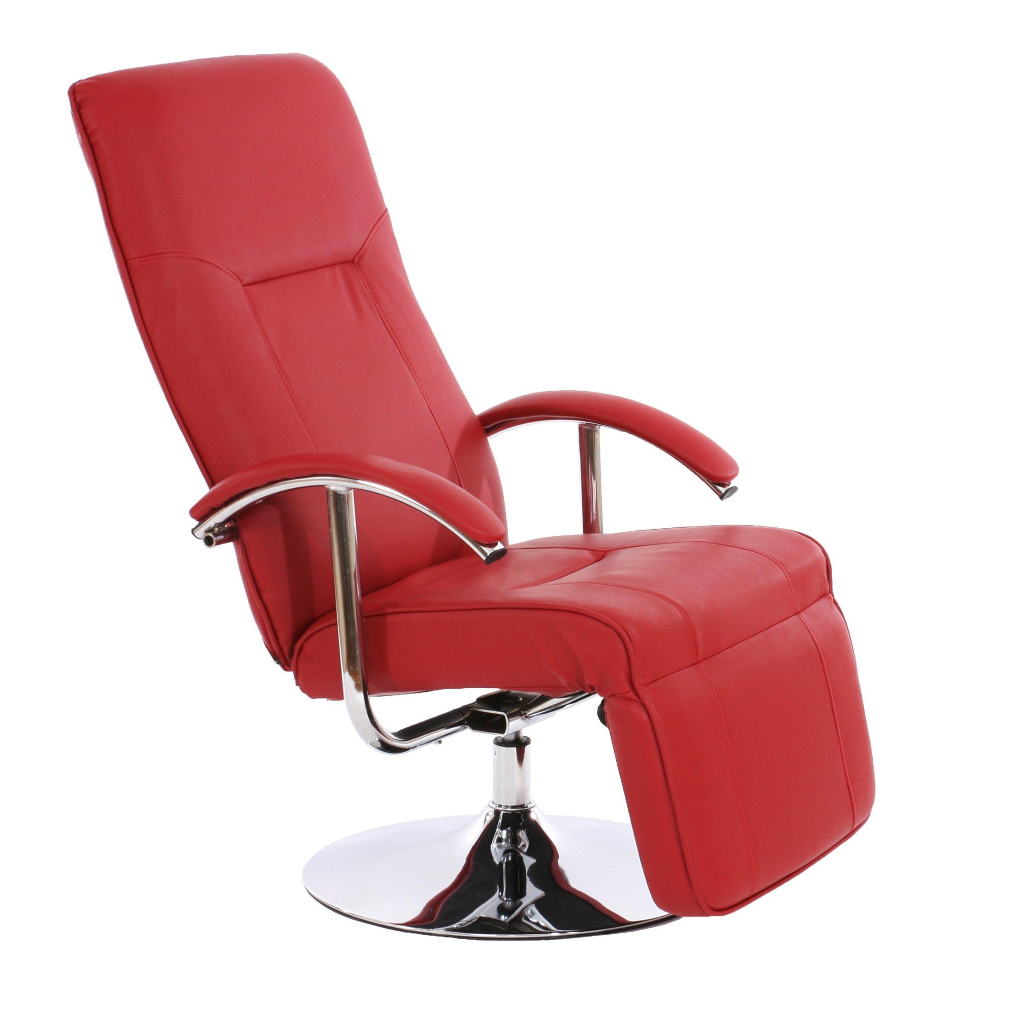 Sill n relax reclinable modelo apia ii en piel color roja for Sillones reclinables precios