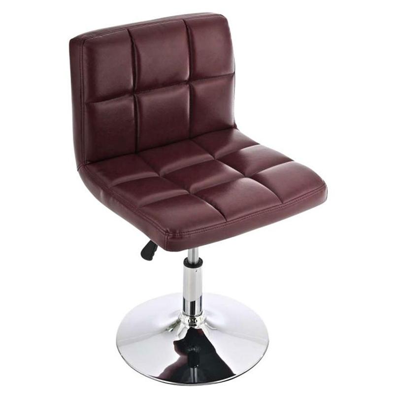 Taburete silla c40 met lica cuero color burdeos for Sillas de piel para comedor