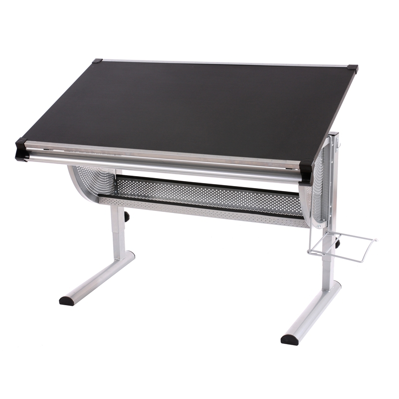 Mesa de dibujo o escritorio juvenil oxford basculante ajustable en altura color negro - Mesas de dibujo ...