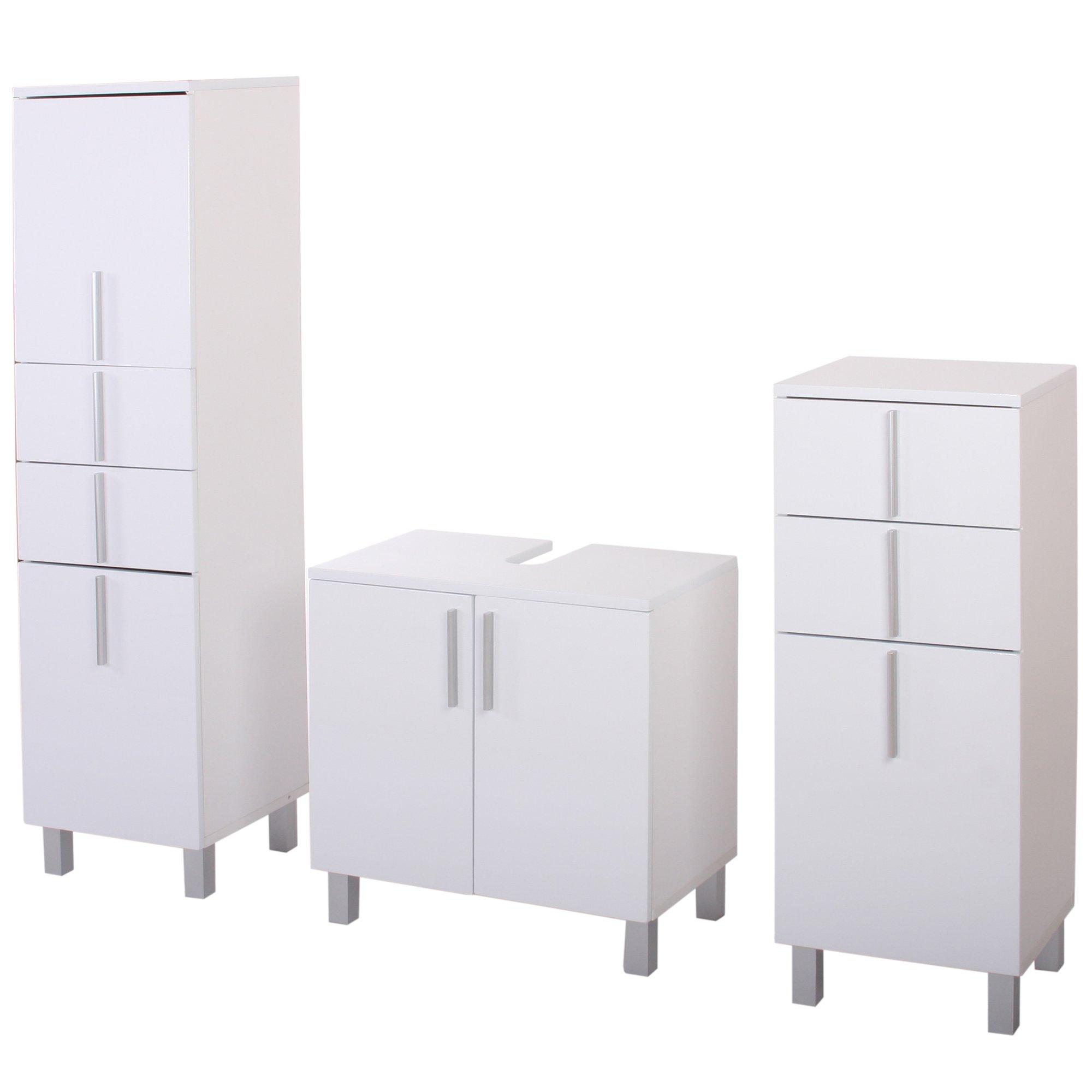 Conjunto de 3 muebles para ba o nordik 2 armarios altos - Armarios de bano altos ...