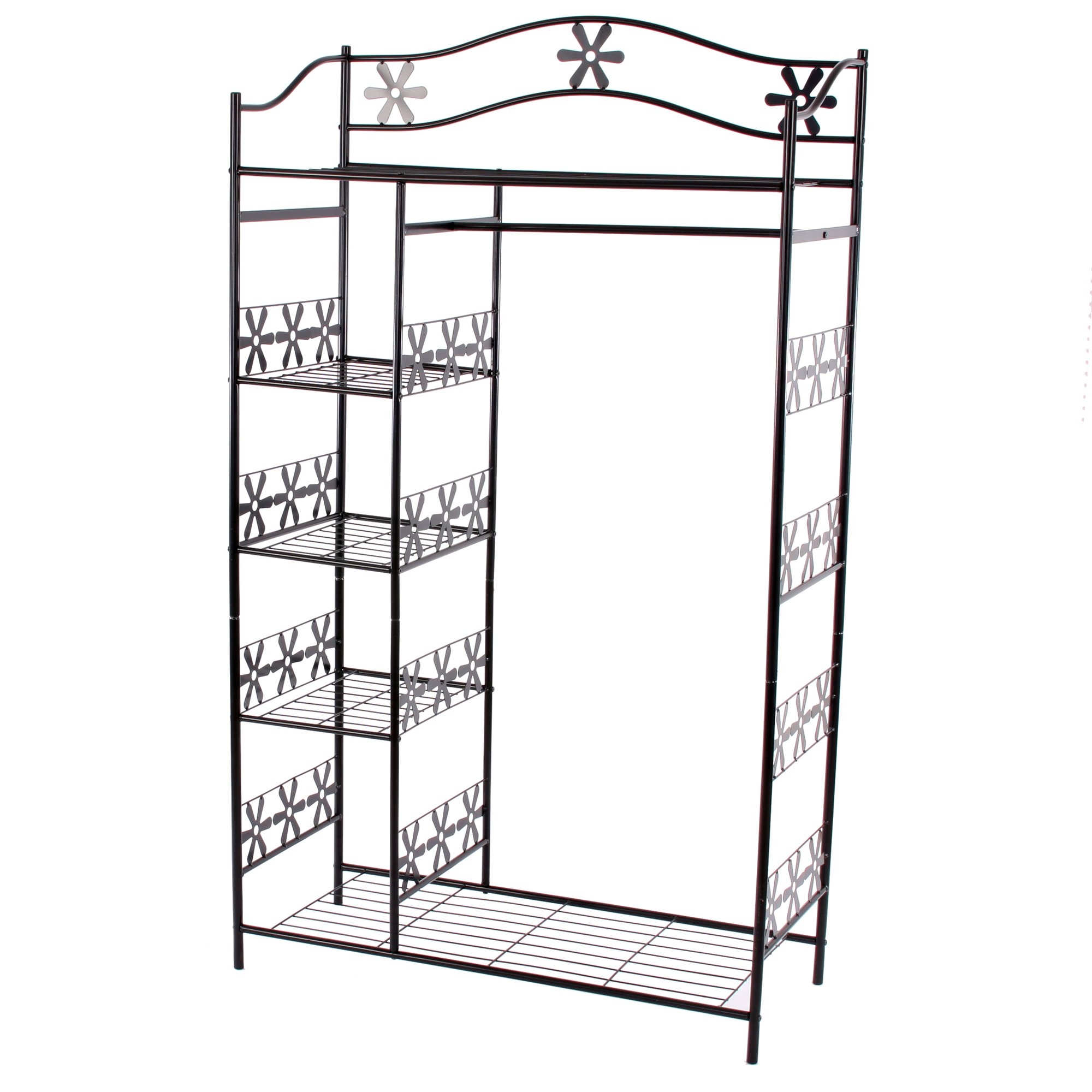 armario de ropa en metal ginebra perchero estante de metal