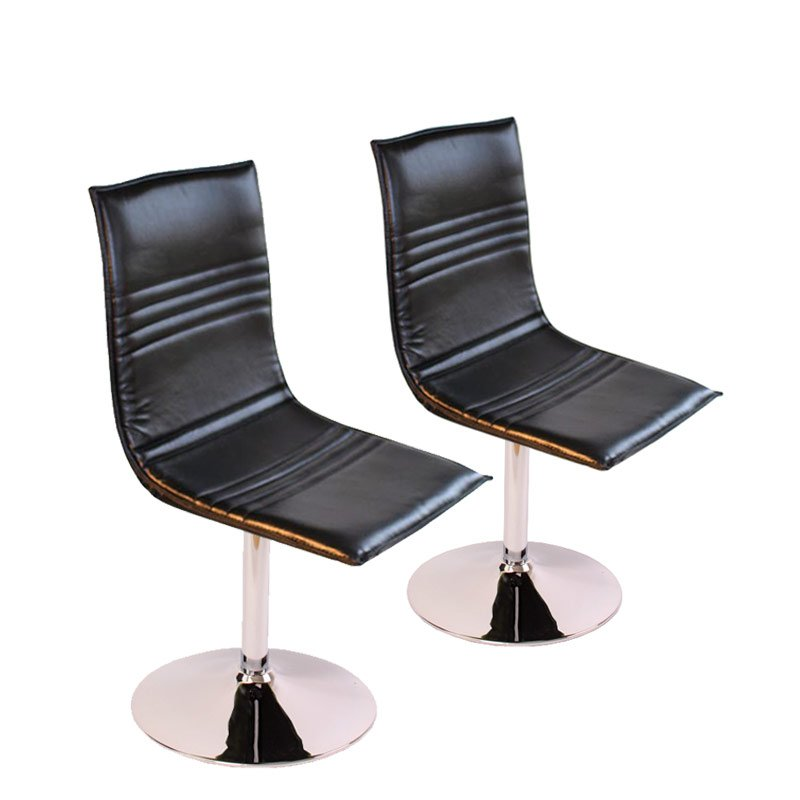 Lote 2 sillas de comedor foggia base met lica giratoria for Sillas de piel para comedor