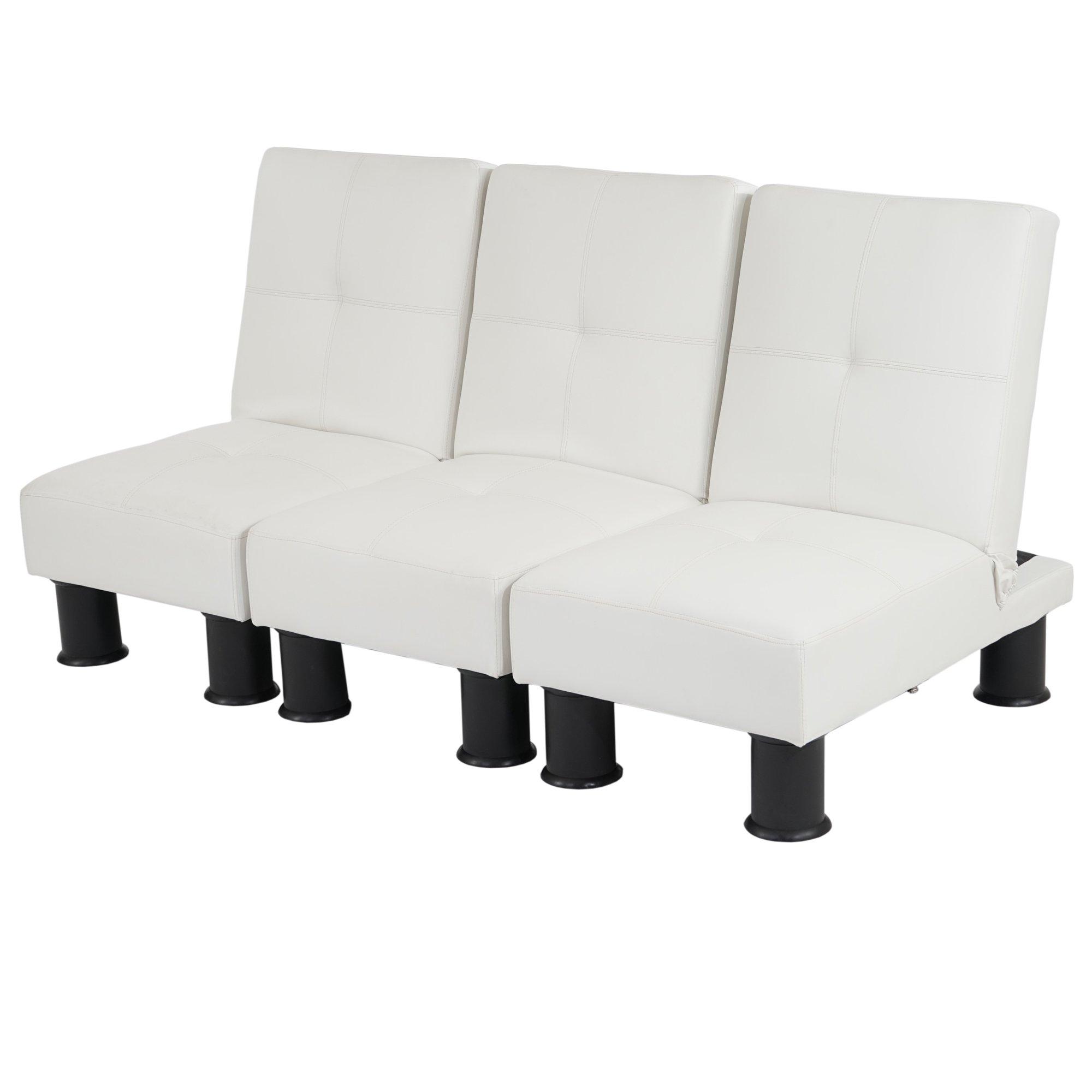 Lote 3 modulos sofa cama melbourne ii en piel color blanco for Sofa cama modular