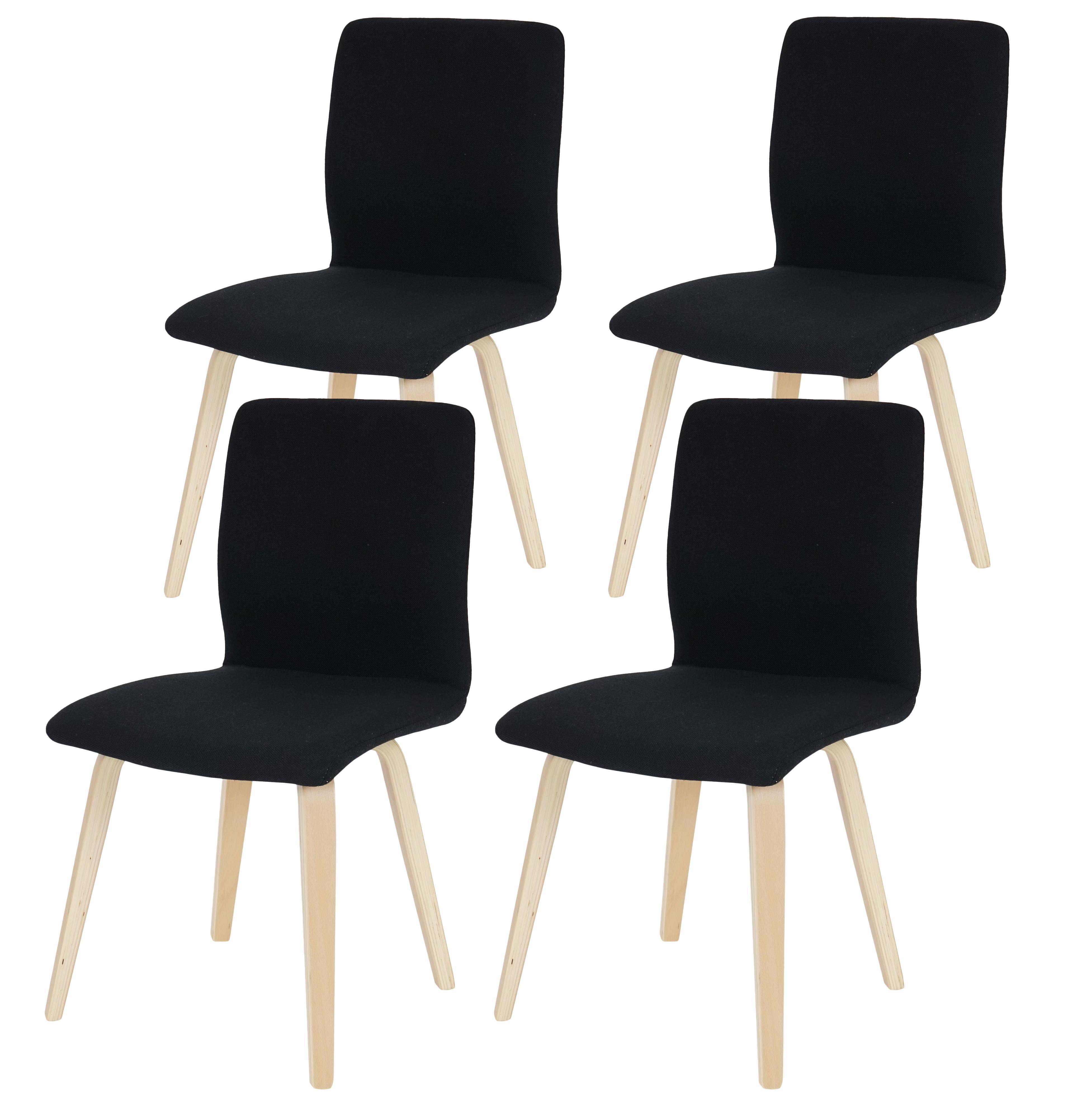 Lote 4 sillas de cocina o comedor dusty estructura y for Sillas de tela comedor