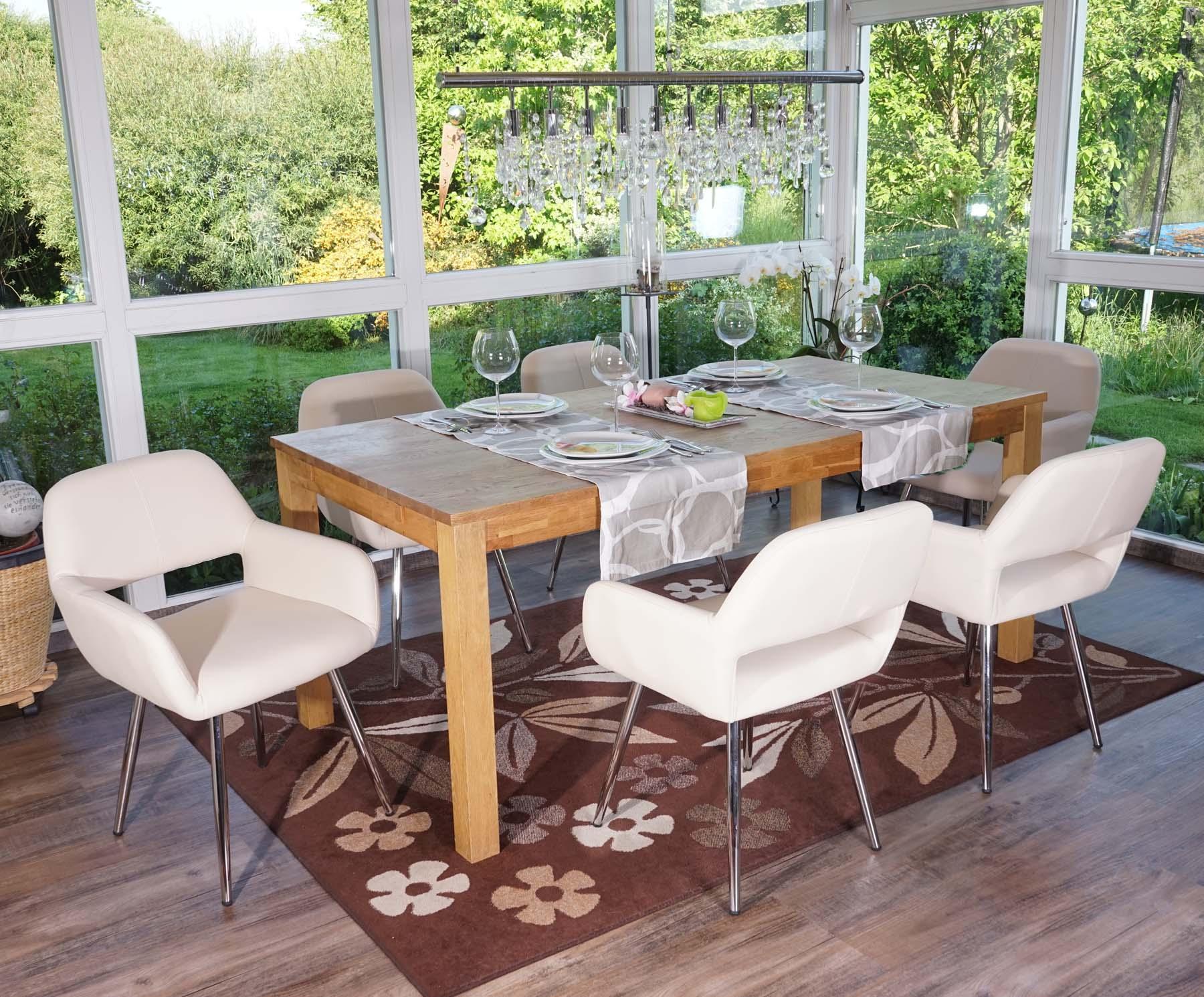 Lote 6 sillas de comedor o cocina calisa gran dise o con patas met licas cromadas en piel - 6 sillas comedor ...