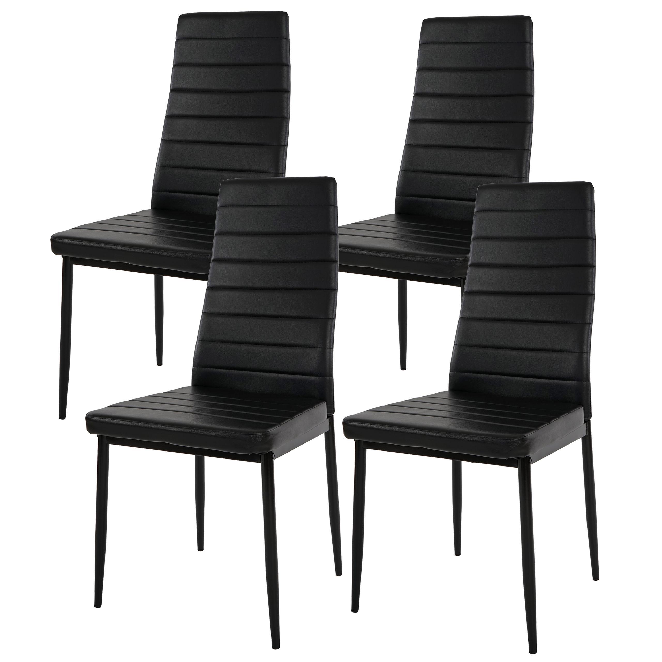 Lote 4 sillas de comedor o cocina kiros gran acolchado for Sillas de comedor de piel