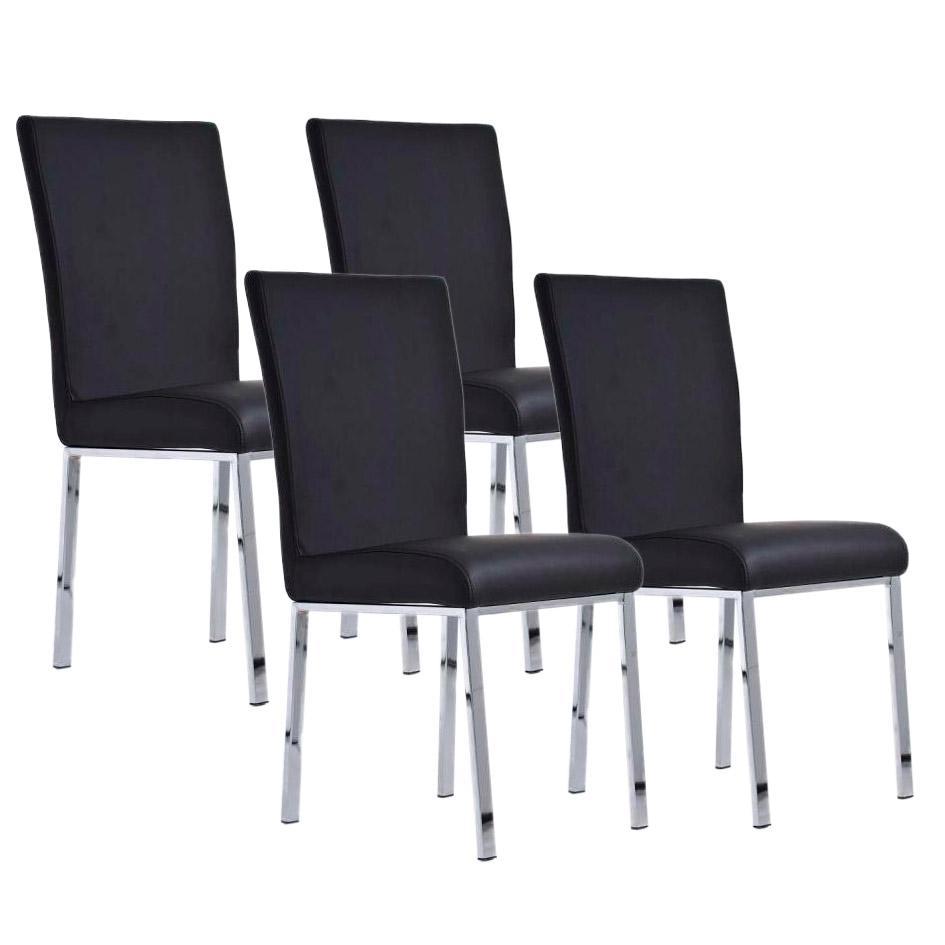 Lote 4 sillas de comedor o cocina carlo patas en metal for Sillas comedor patas cromadas