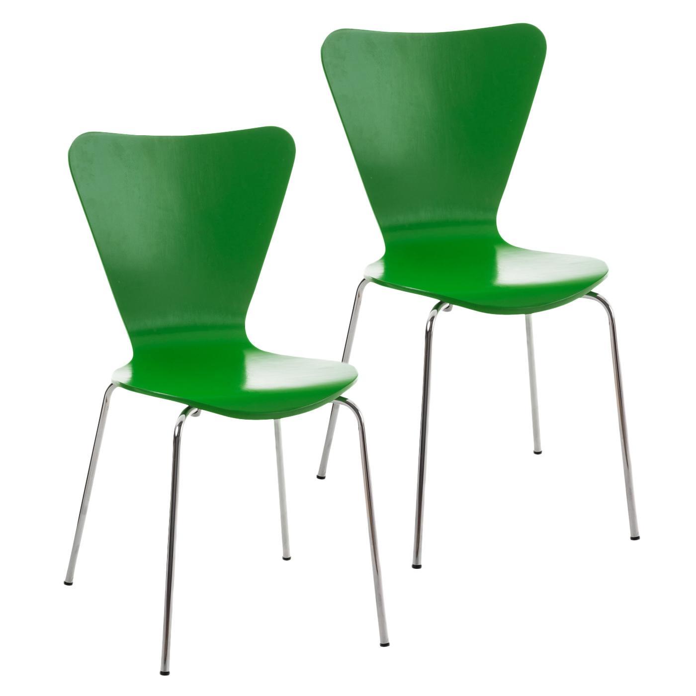 Lote 2 sillas de cocina o comedor lerma en verde lote 2 for Sillas para quincho apilables