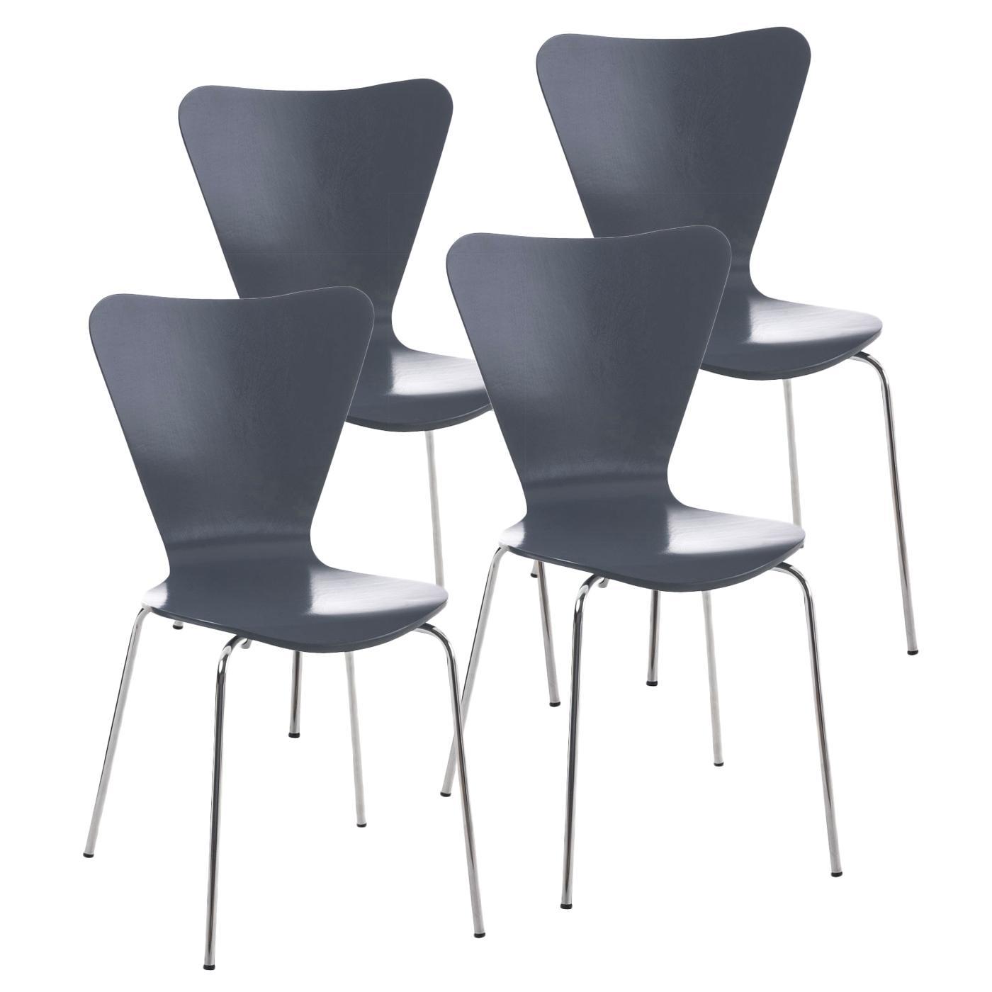 Lote 4 sillas de cocina o comedor lerma en gris lote 4 sillas de cocina o comedor lerma en for Comedor 4 sillas madera