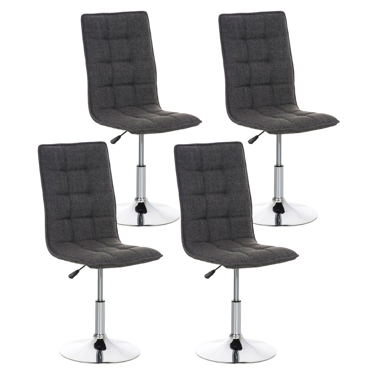 Conjunto de 4 sillas de comedor o cocina pescara en tela for Sillas grises para comedor