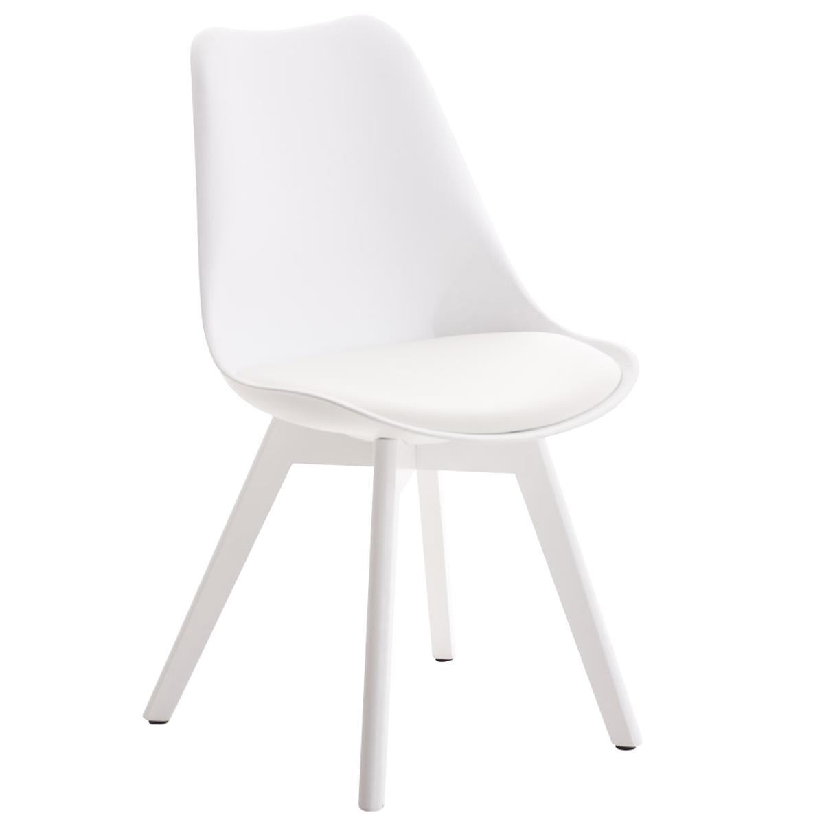 Sillas blancas comedor silla moderna tribecca polipiel for Sillas blancas tapizadas