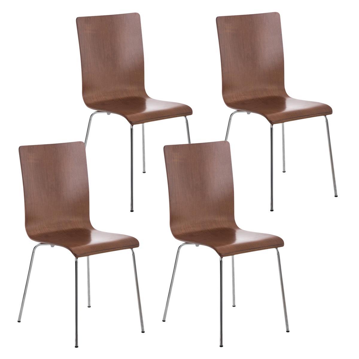 Conjunto de 4 sillas de cocina o comedor lodi en color for Sillas comedor patas metalicas