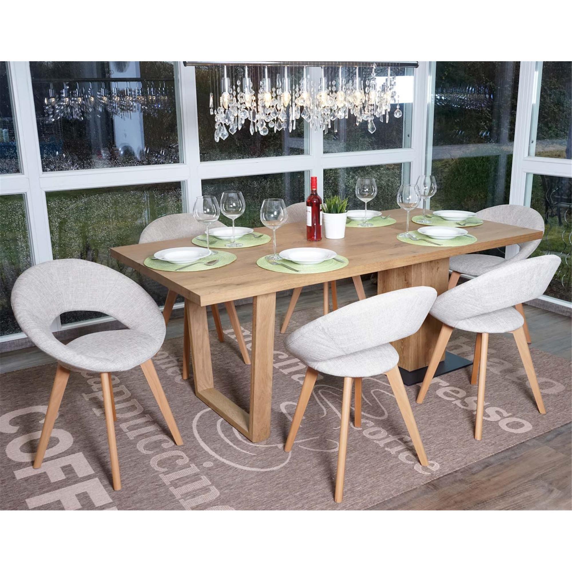 Conjunto 6 sillas de comedor vedri dise o retro en tela - Tela para sillas de comedor ...