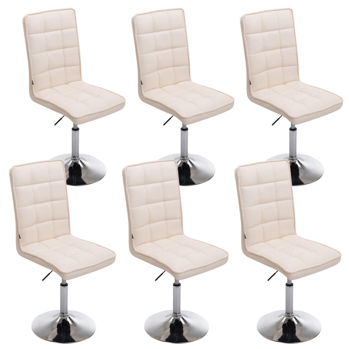 Conjunto de 6 sillas de comedor o cocina osuna piel en for Sillas de comedor de piel