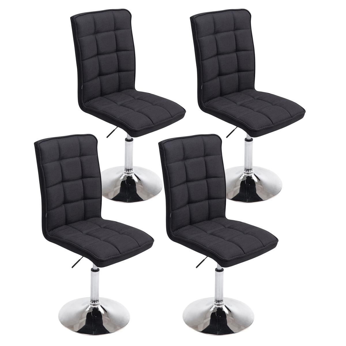 Conjunto de 4 sillas de comedor o cocina osuna en tela for Sillas de comedor negras