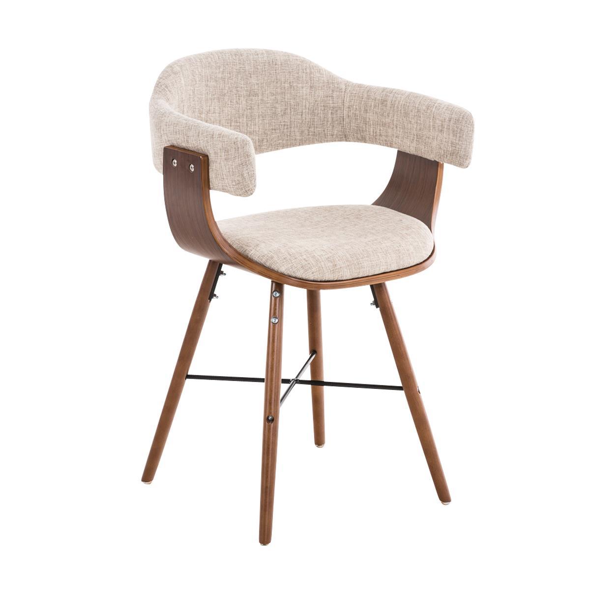 Silla de comedor albatros en tela color crema y for Comedor sillas de colores