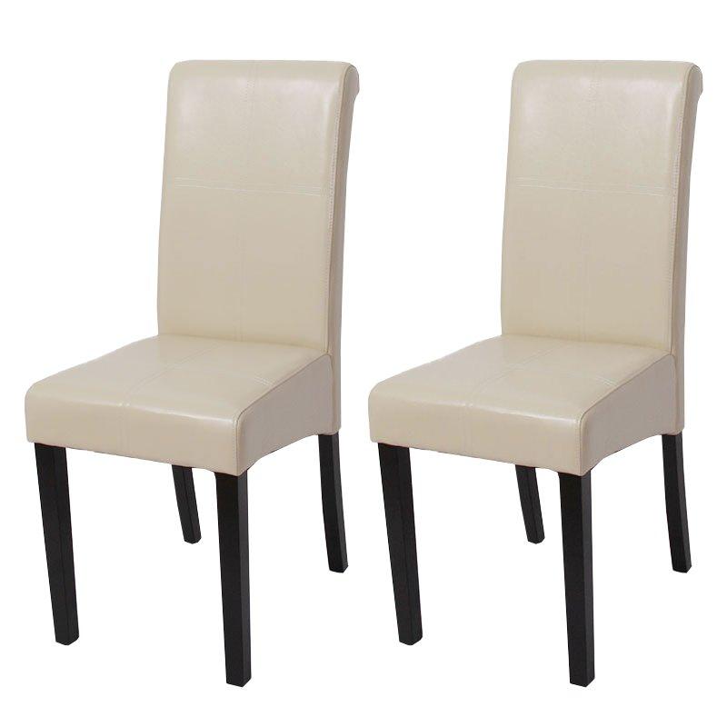 Lote 2 sillas de comedor novara iii con costuras en for Sillas cuero comedor