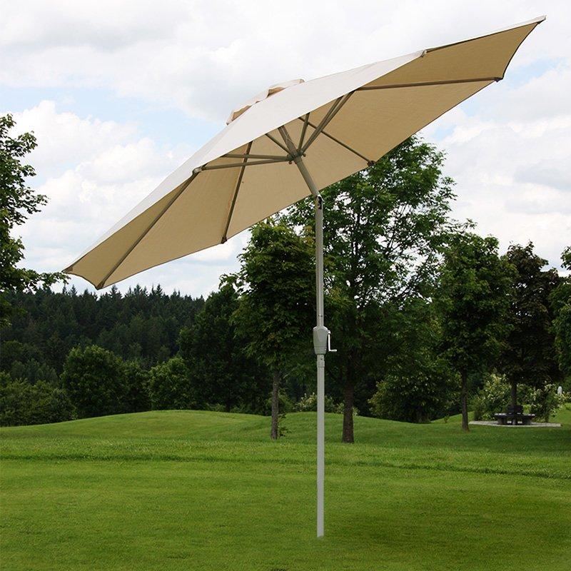 sombrilla de jardn o terraza n dametro cm inclinable estructura en acero color crema