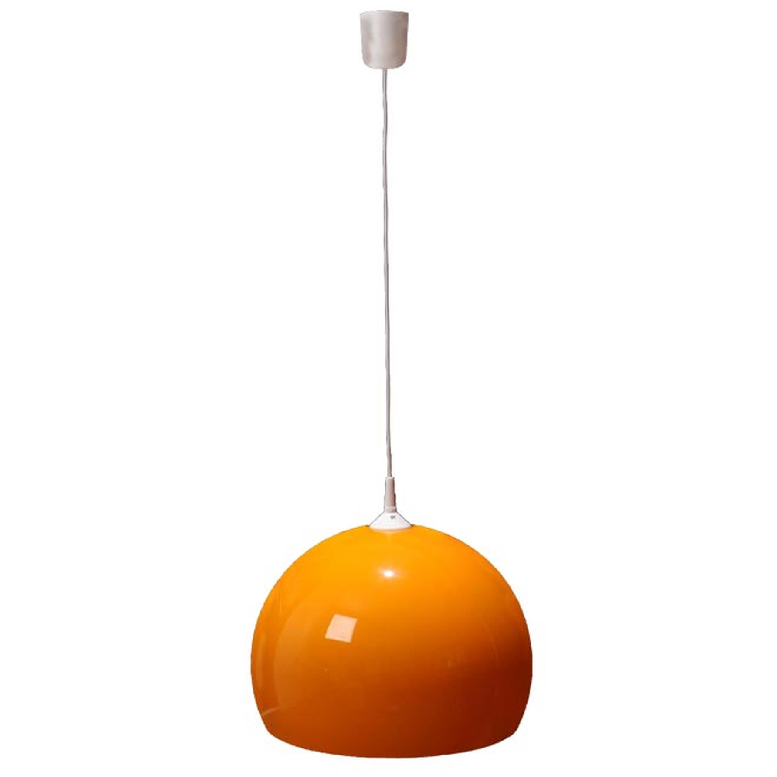 lmpara colgante saln o cocina dimetro cm moderna y nica color naranja