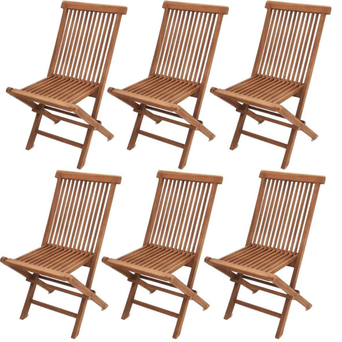 lote de sillas para jardn o terraza modelo modena en madera de teca genuina plegables