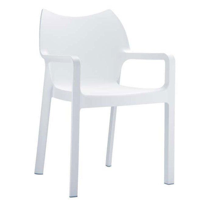 Silla de jard n apilable c43 en pl stico blanco silla - Sillas plastico jardin ...