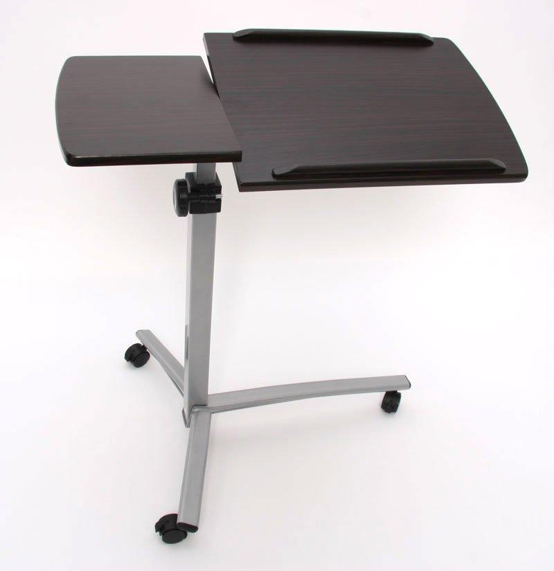 Mesa de ordenador port til regulable en altura y giro - Mesa de ordenador con ruedas ...