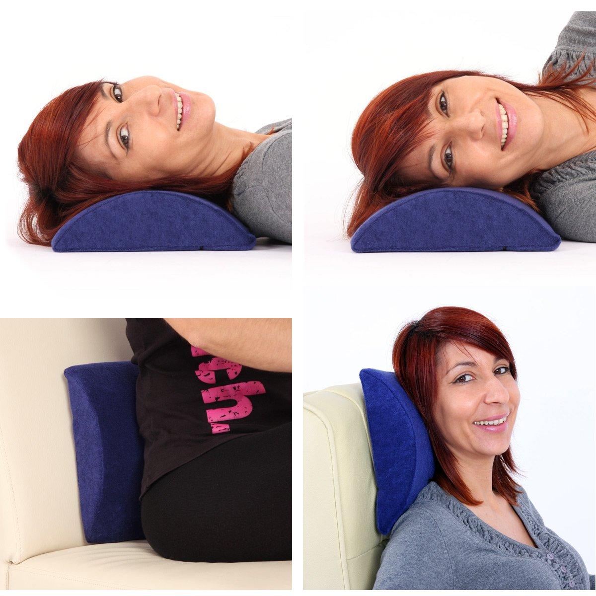 Almohada lumbar para sillas de oficina 27x23x7cm coj n for Cojin lumbar silla oficina