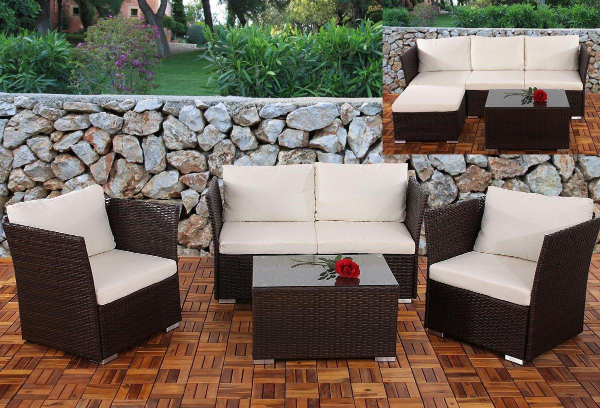 Conjunto de jardin siena sofa 2 sillones mesa for Sillones de jardin baratos