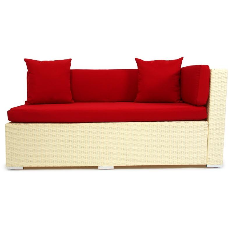 Sofa modular rom v esquinero en poli rattan color crema for Sofa esquinero jardin