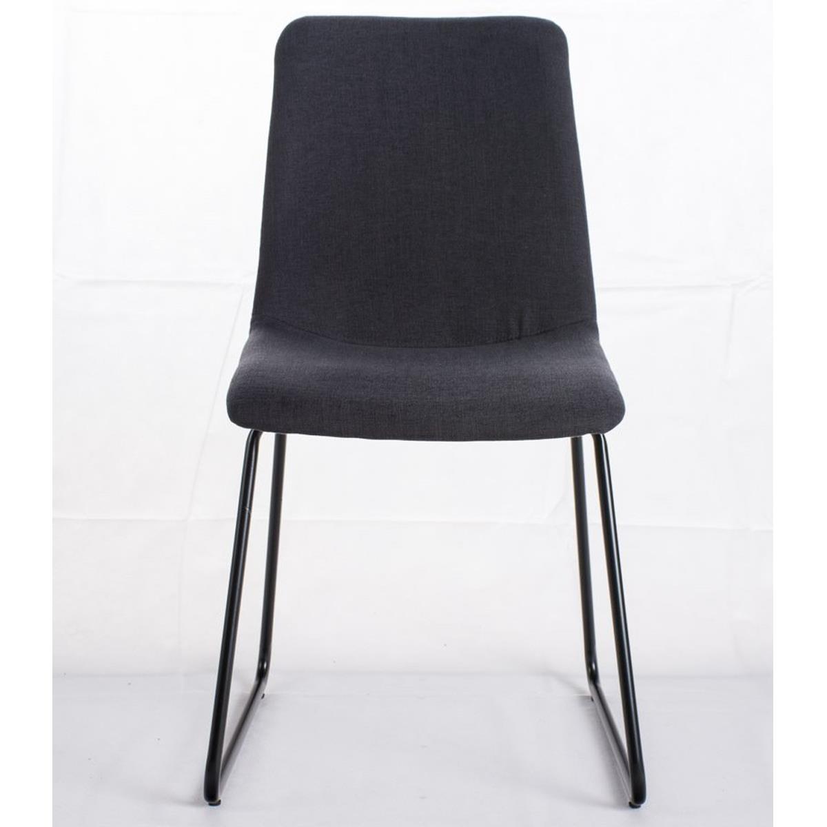 Conjunto de 6 sillas de comedor marina color gris oscuro for Sillas comedor patas metalicas