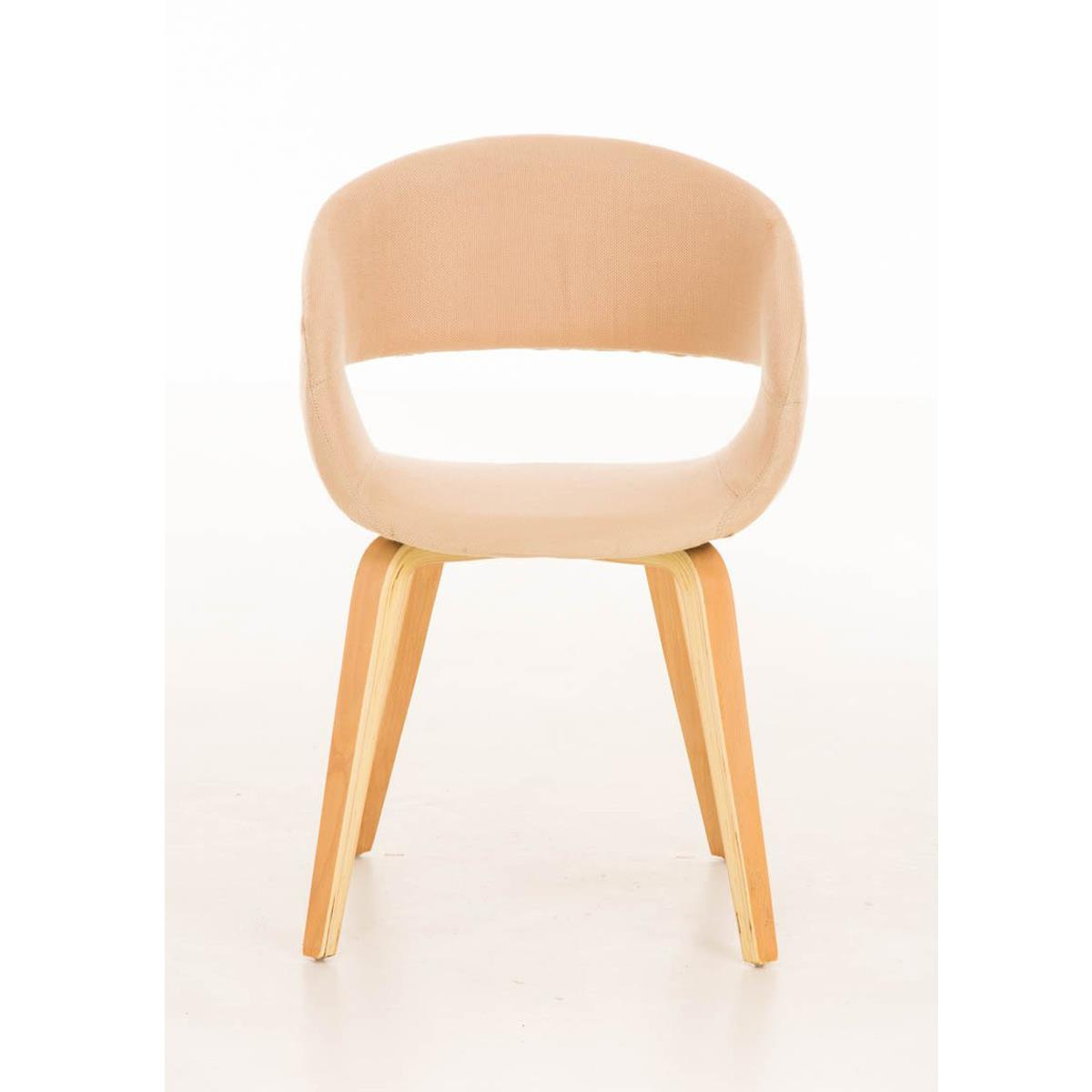 Silla de comedor gregory tapizada en tela color crema - Tela para sillas de comedor ...